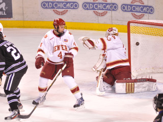 Adam Murray gets an arm up against Minnesota State