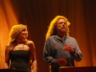 Allison Kruass and Robert Plant