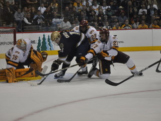 Kenny Reiter makes a save