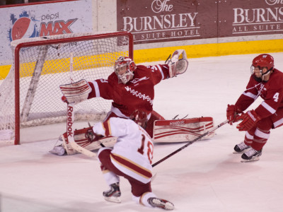 Luke Salazar scores against Wisconsin